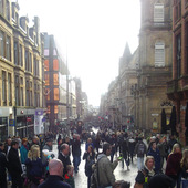 <span class=heading><b>Where&rsquo;s Want?</b> by Stephanie Beechey</span><br />Can you find the four shadows of relative poverty in Buchanan Street: shame, loneliness, alienation and low self-esteem? They&rsquo;re not easy to spot: the hyperconsumption within the consuming city belies the high levels of deprivation that exist in Glasgow. Not only does the city&rsquo;s consumerist mode of economic development exacerbate deprivation, those who cannot participate are excluded from consumer culture. What effect does this have on those who have less?<br /><span class=small>Image: &copy; 2015 Stephanie Beechey</span>