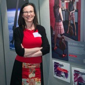 <span class=heading><b>2014</b></span><br /><p class=int>Business and Industry category winner Nicola Cairns with her image &rsquo;All the Worlds a Stage&rsquo;.</p><span class=small>Image: &copy; 2014 Guy Hinks</span>