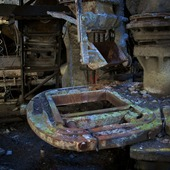 <span class=heading><b>Derelict</b> by Mary McDonough-Clark (Creative Writing (English studies))</span><br /><p class=int>I am trying to enhance our collective understanding of what the loss of heavy industry in Scotland has meant to the people who engaged in it (miners, weavers, automobile manufacturers, welders, shipwrights), and what the loss of those ways of life and the language associated with them have meant to the people who no longer view themselves as having a role or a place in which they fit. I am talking to retired people and using these first-person accounts to salvage what I can of their stories, to preserve them so that we (and they) have access to them. Hearing other peoples' stories also helps me to make sense of mine, and this sparks my creative process. What writers need most in order to write is input, a felt connection between what they are writing about and the writing itself.</p><span class=small>Image: © 2012 Martyn Jonathan Owen Clark</span>