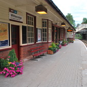 """<span class=heading><b>Community Involvement and Place Transformation</b> by Matthew Alexander (Marketing)</span><br /><p class=int>""""A railway station mirrors the soul of the place where it is located"""" (Kopperud, 1998) <br /><br />Our research explored 'Adopt A Station', a partnership between First ScotRail and groups who 'adopt' local railway stations. The scheme allows community members to utilize unused station spaces to provide services or facility improvements that benefit the community. Over 100 stations have been adopted with projects including gardening, charity bookshops, cafes, galleries and heritage centres. <br /><br />Our study included station visits, interviews and observation and offers a contrast to notions of placelessness by highlighting how placefullness can be achieved through community involvement. Through community involvement and passion redundant spaces are resurrected and imbued with new meaning. The financial crisis saw a decline to the high street with shops and other community places forced to close. Our research highlights the impact of consumers when they demonstrate resilience to market forces, regaining control of their community from within.</p><span class=small>Image: © 2012 Matthew Alexander</span>. <span class=small>Kathy Hamilton</span>"""