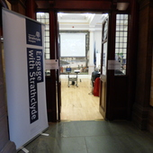 """<span class=heading><b>Talk of the Steamie</b> by Rachel Clark</span><br /><p class=int>Images of Research event """"Talk of the Steamie"""" at the People&rsquo;s Palace. What a great space to use!</p><span class=small>Image: &copy; 2017 Rachel Clark</span>"""